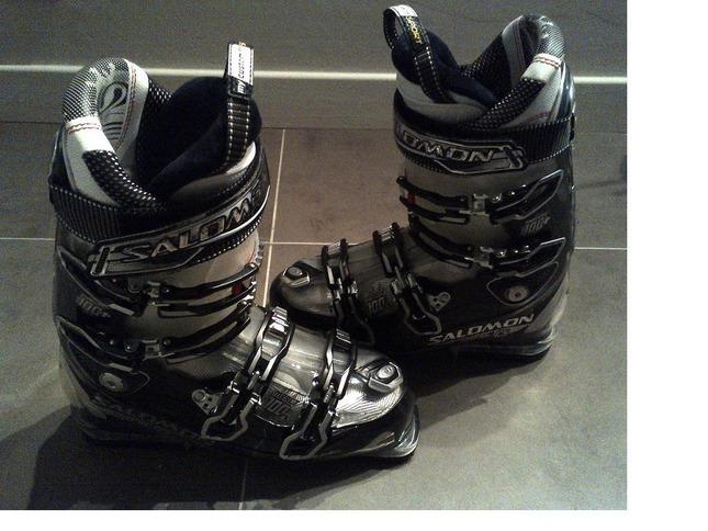 vends chaussures de ski homme salomon impact 100 cs 2013. Black Bedroom Furniture Sets. Home Design Ideas