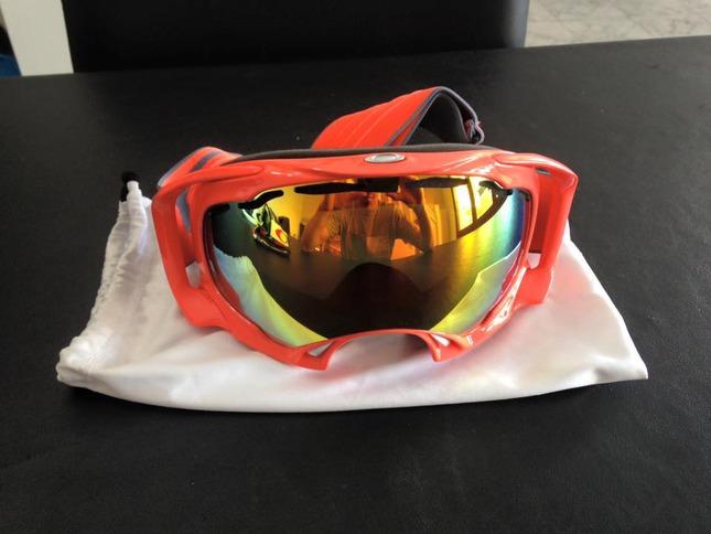 masque ski oakley bleu