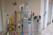 Vends lot de skis, chaussures et bâtons