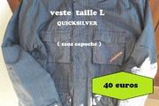 Veste QUICKSILVER noir Taille L