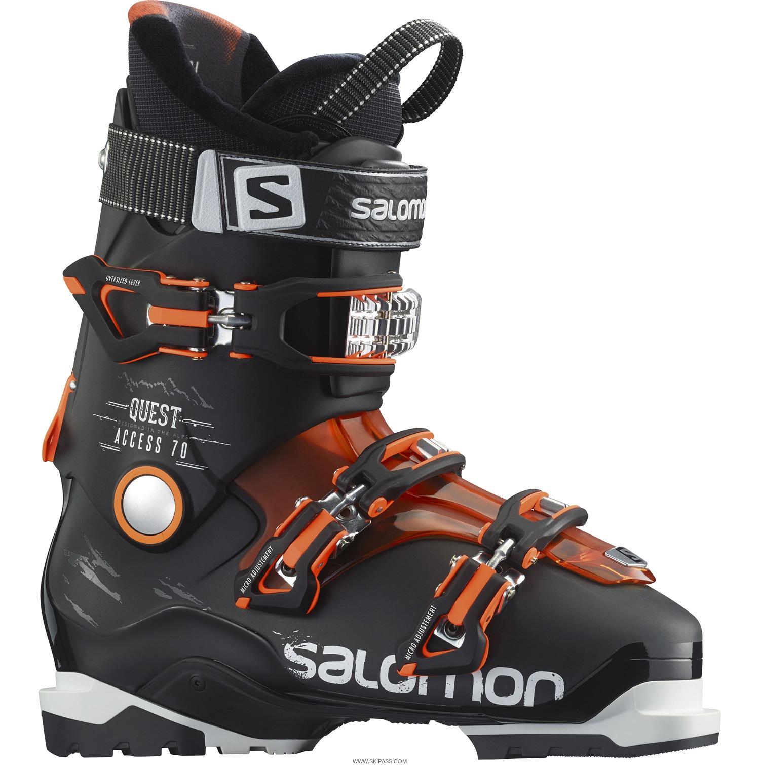Quest Access 60 W Chaussure Ski Femme SALOMON BLANC pas cher