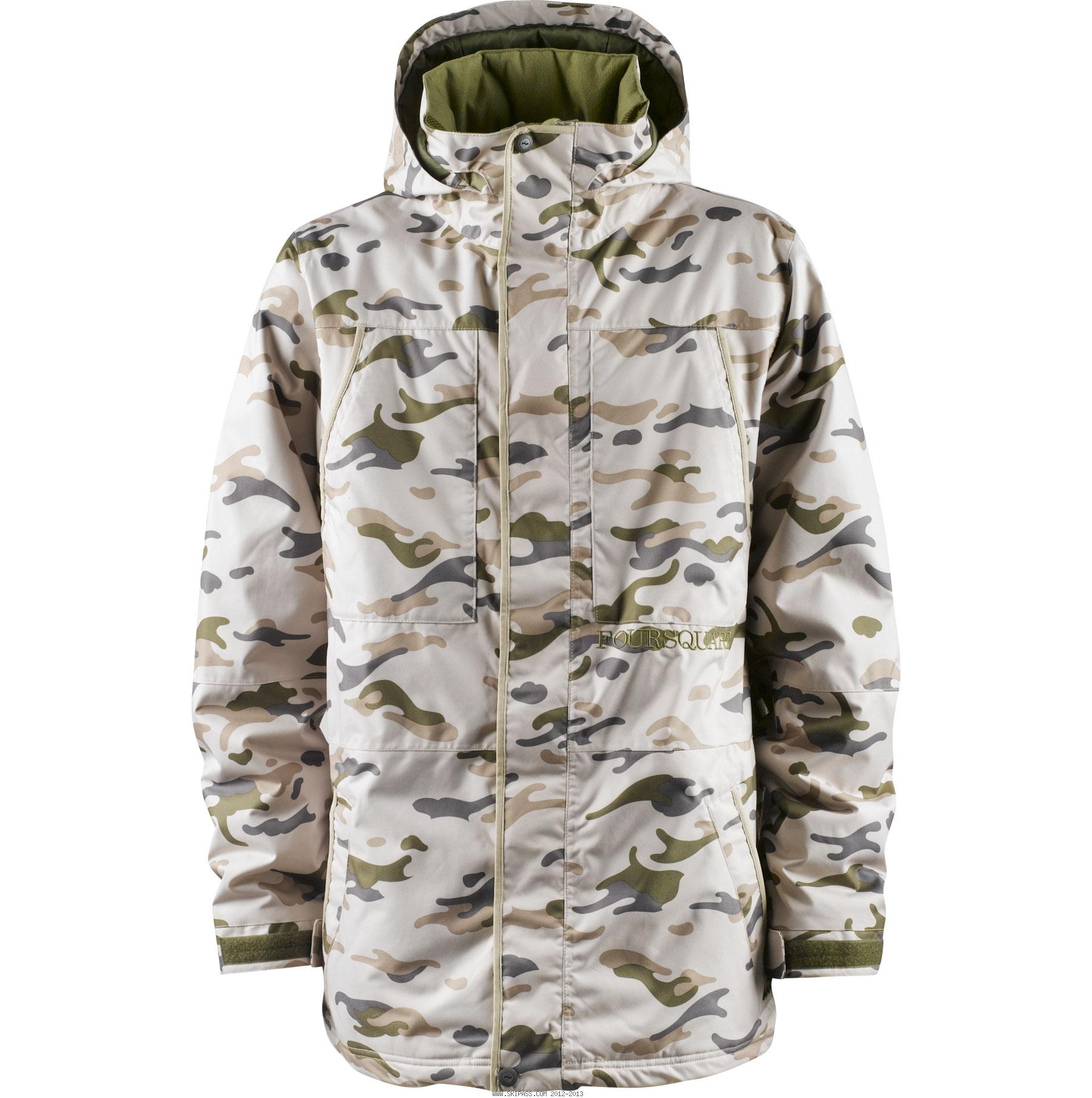 Veste ski camouflage homme