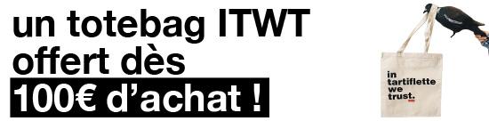 Un Totebag ITWT offert dès 100€ d'achat !