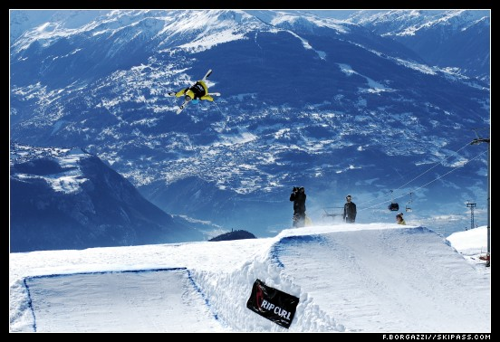 Kevin Rolland sur le big air