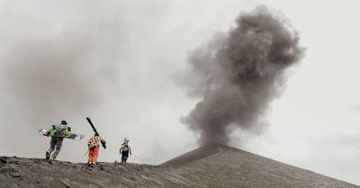 Rider un volcan en activité