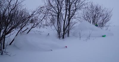 Déjà plus de 75 cm de neige fraîche