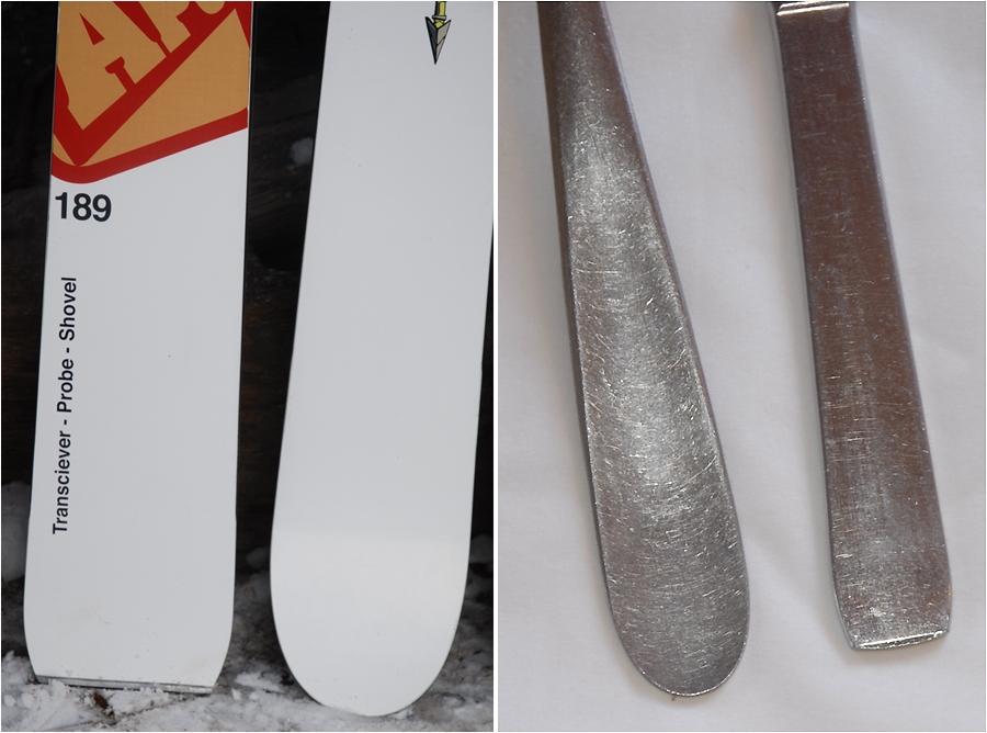 Ski les skis apo exclu - Fourchette a droite ou a gauche ...