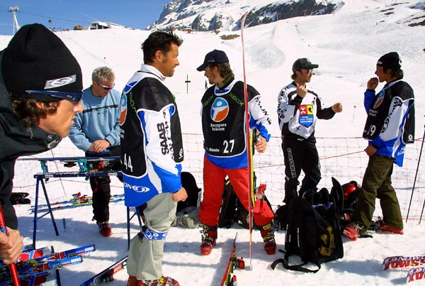 Le team Skiercross Salomon<br>photo Julien Kauffmann