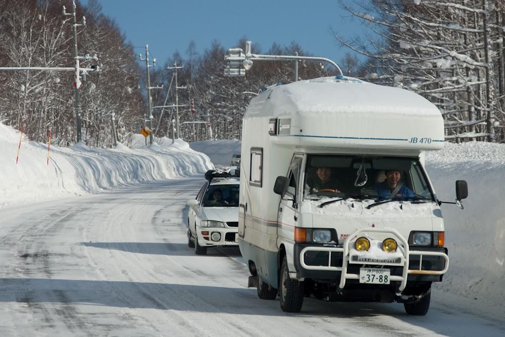 ski le mini camping car de tatsuya avec pare buffle. Black Bedroom Furniture Sets. Home Design Ideas