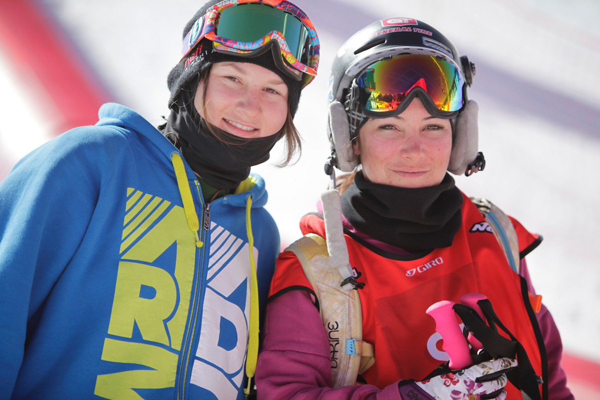 With Devin Logan during the SFR Tour 2011 in la Plagne