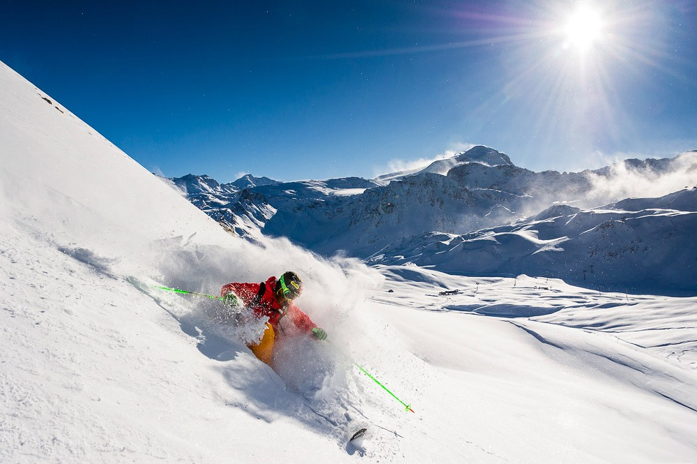 Shooting à Tignes