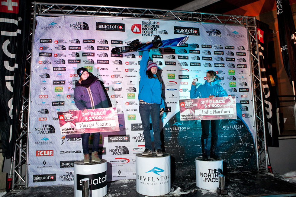 Podium snowboard femme