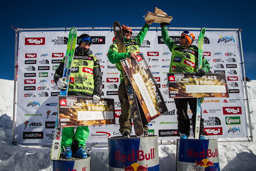 Le podium ski hommes