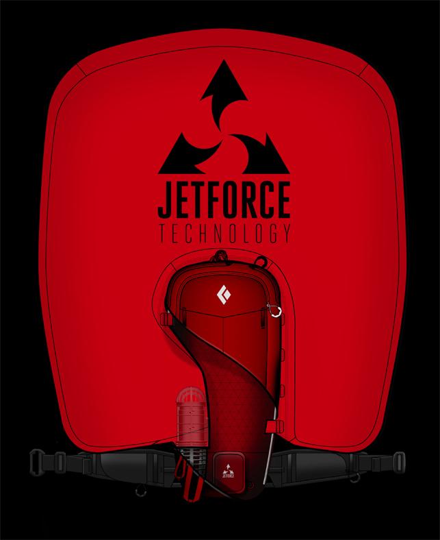 JetForce : nouvelle technologie d'airbag par Pieps et Black Diamond