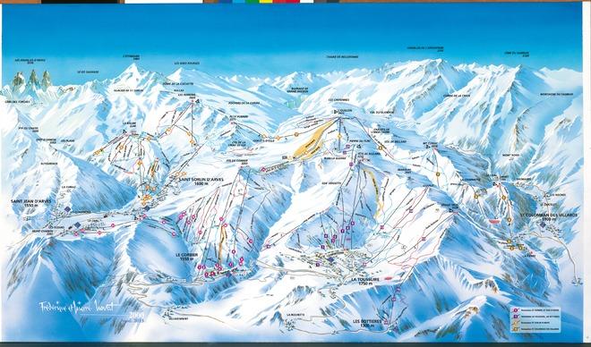plan des pistes Les Bottieres-Jarrier