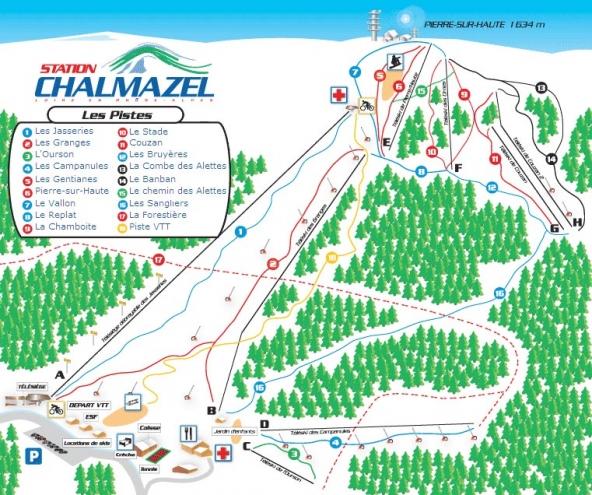 plan des pistes Chalmazel