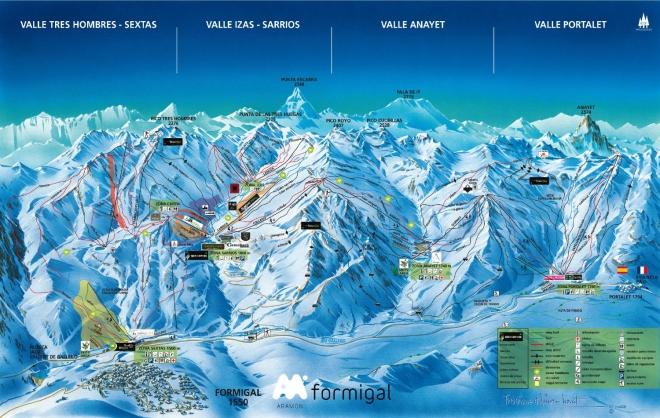 plan des pistes Formigal
