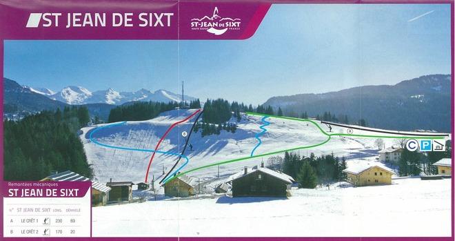 plan des pistes Saint Jean de Sixt