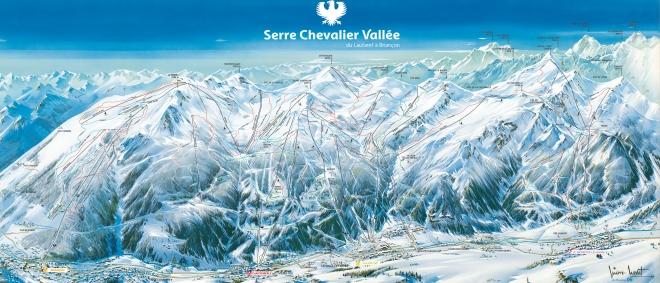 Ski slopes Briançon-SerreChevalier1200