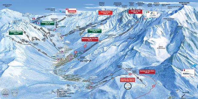 plan des pistes Chamonix