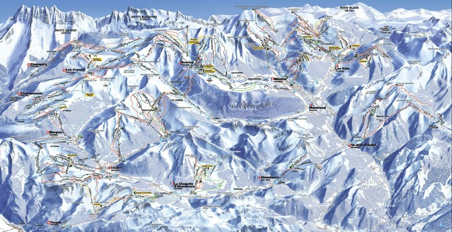 plan des pistes Champéry