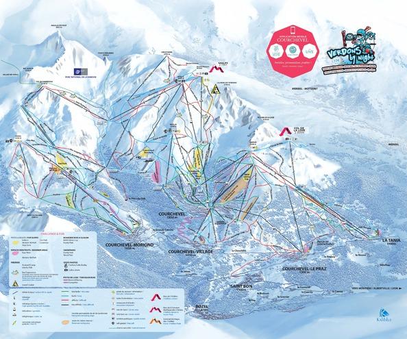 plan des pistes Courchevel