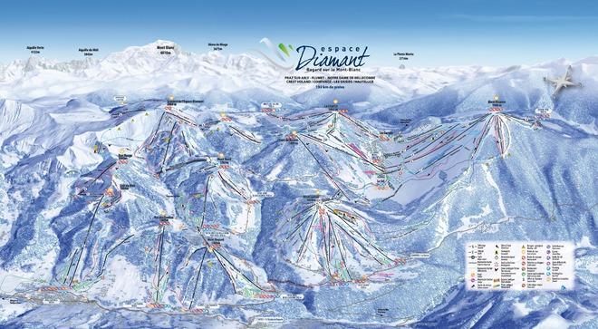 plan des pistes Crest-Voland / Cohennoz