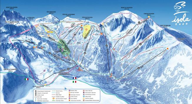 plan des pistes Isola 2000