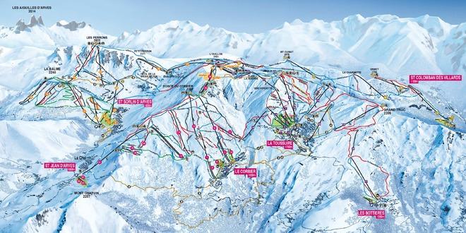 plan des pistes Le Corbier