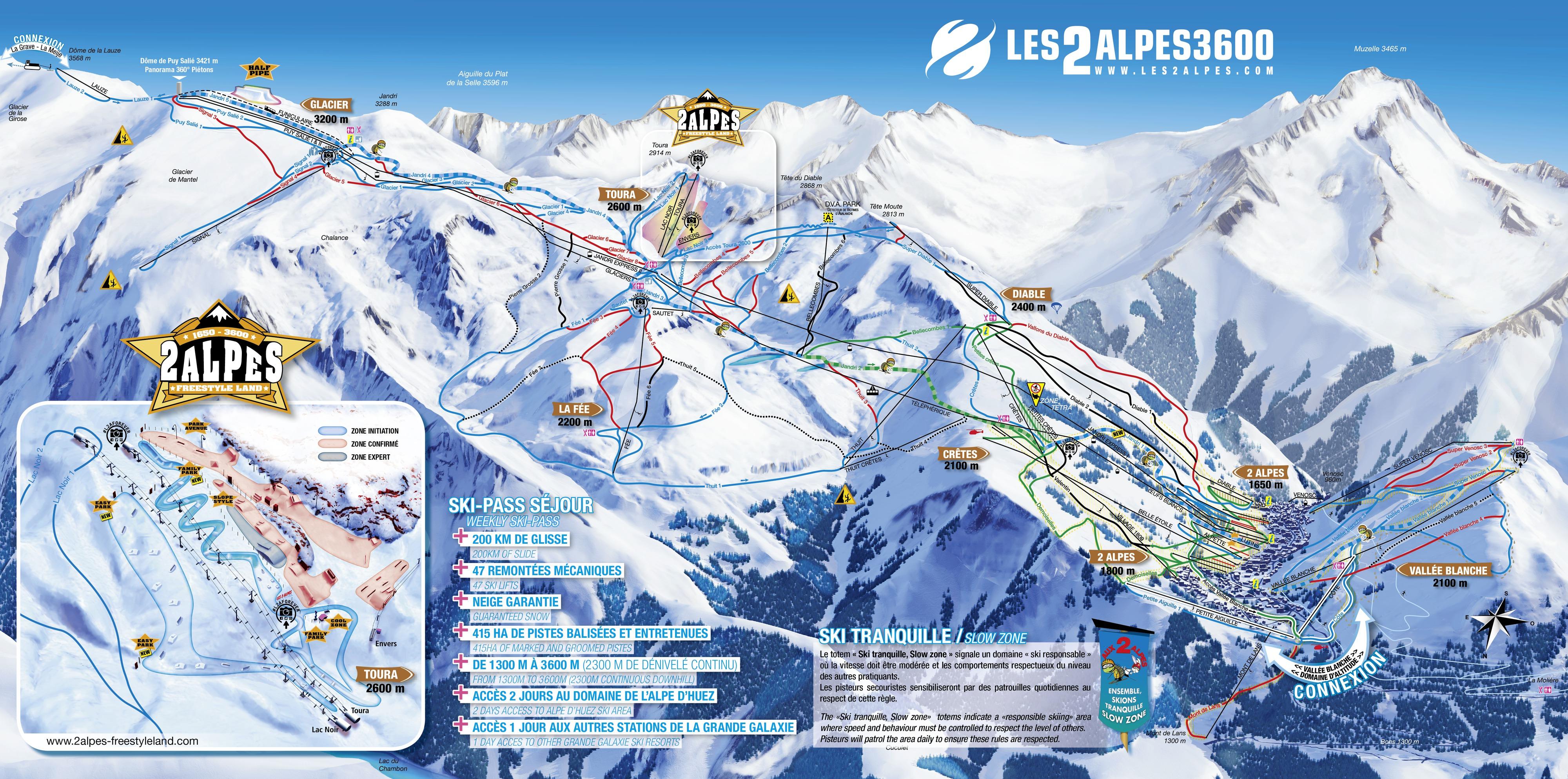 Plan des pistes les deux alpes for Piscine les deux alpes