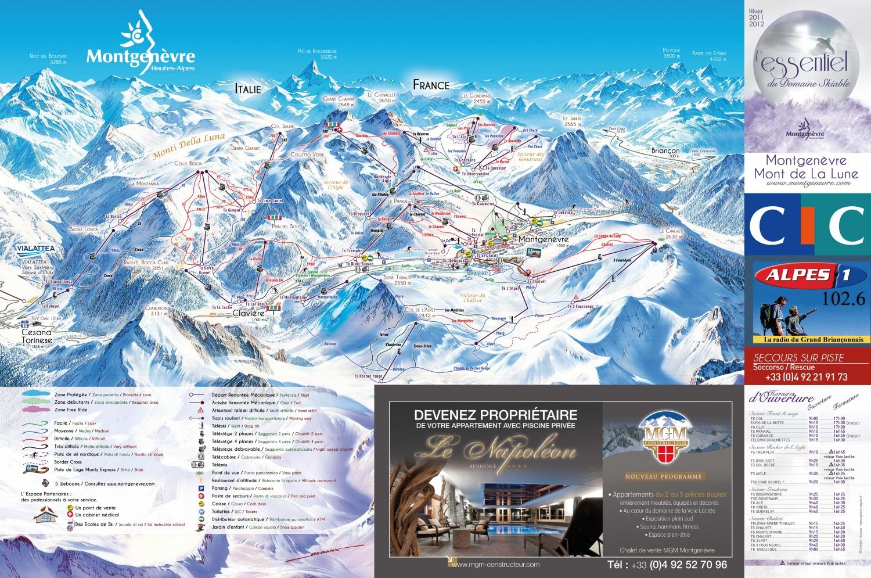 Plan des pistes montgen vre - Montgenevre office de tourisme ...