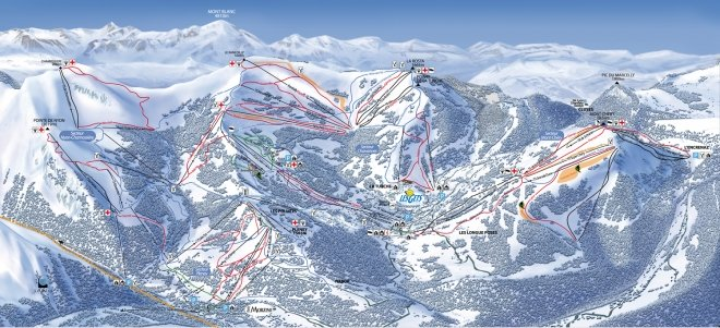 plan des pistes Morzine