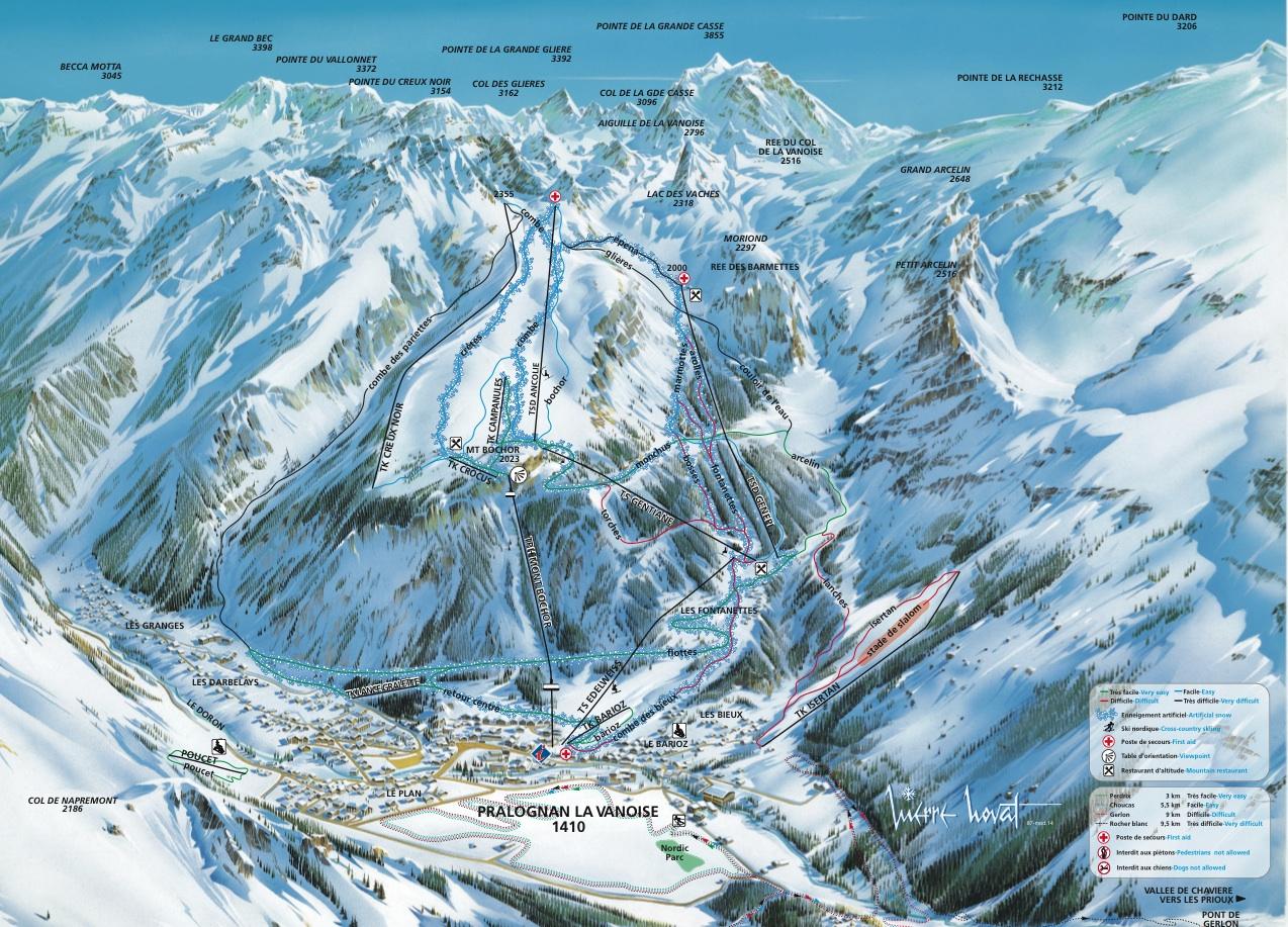 Plan des pistes pralognan la vanoise - Office de tourisme pralognan la vanoise ...