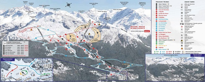 plan des pistes Sainte Foy