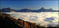 26 octobre 2008 - rebelote et nouvelle mer de nuages au dessus de Grenoble
