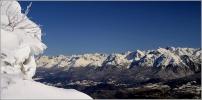 le plateau des Ramées ! Photo : vue du plateau en direction de la chaîne de Belledonne.