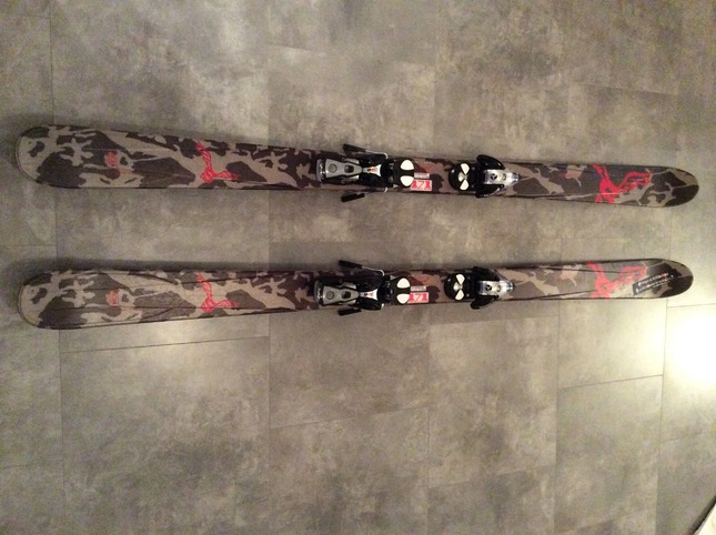 161 Salomon Seven Twenty 2004 2005 Skis With Marker M1100 Free Bindings