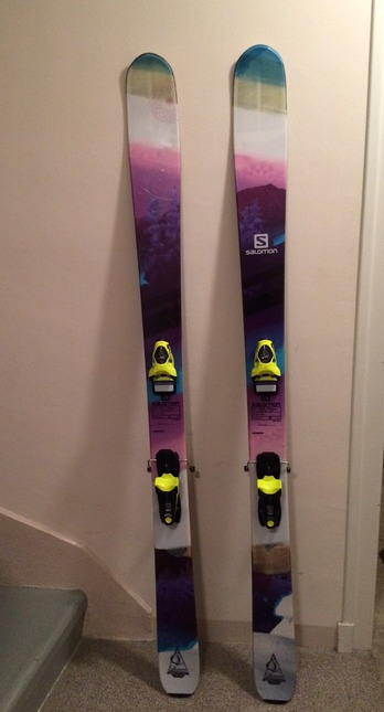Vends Ski freeride Salomon Q96 femme très peu servis