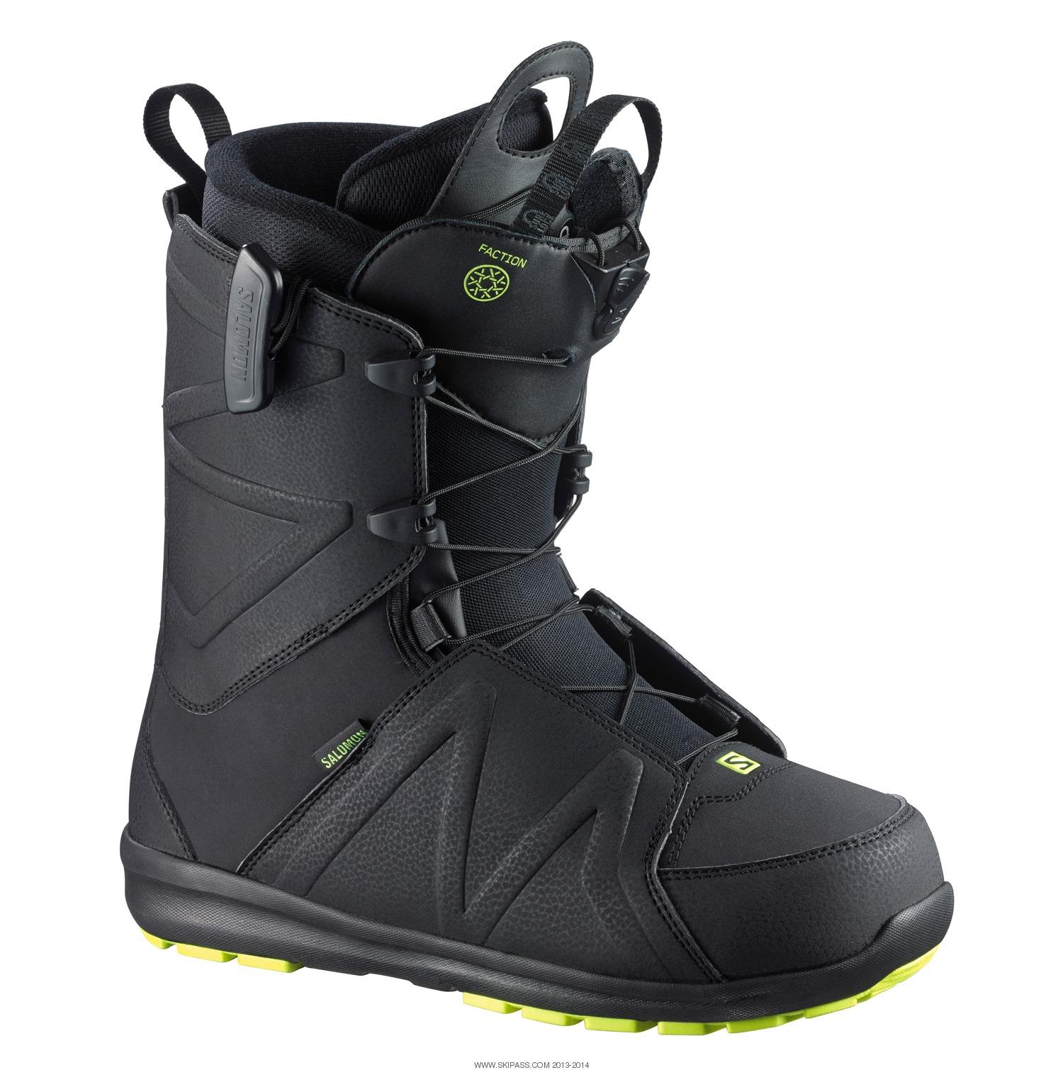 Homme Noire Salomon Faction Chaussure Snowboard BoxQWredC