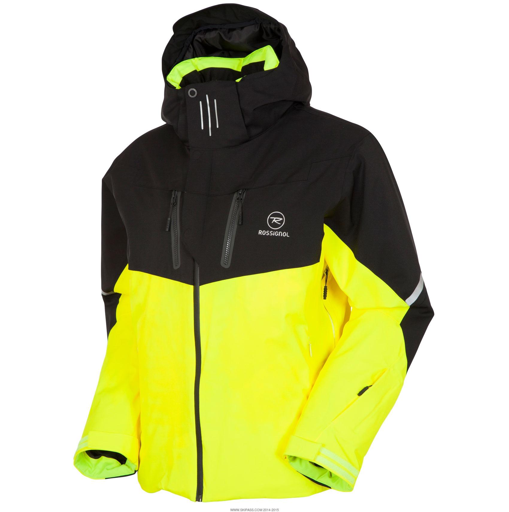 Veste de ski homme fluo