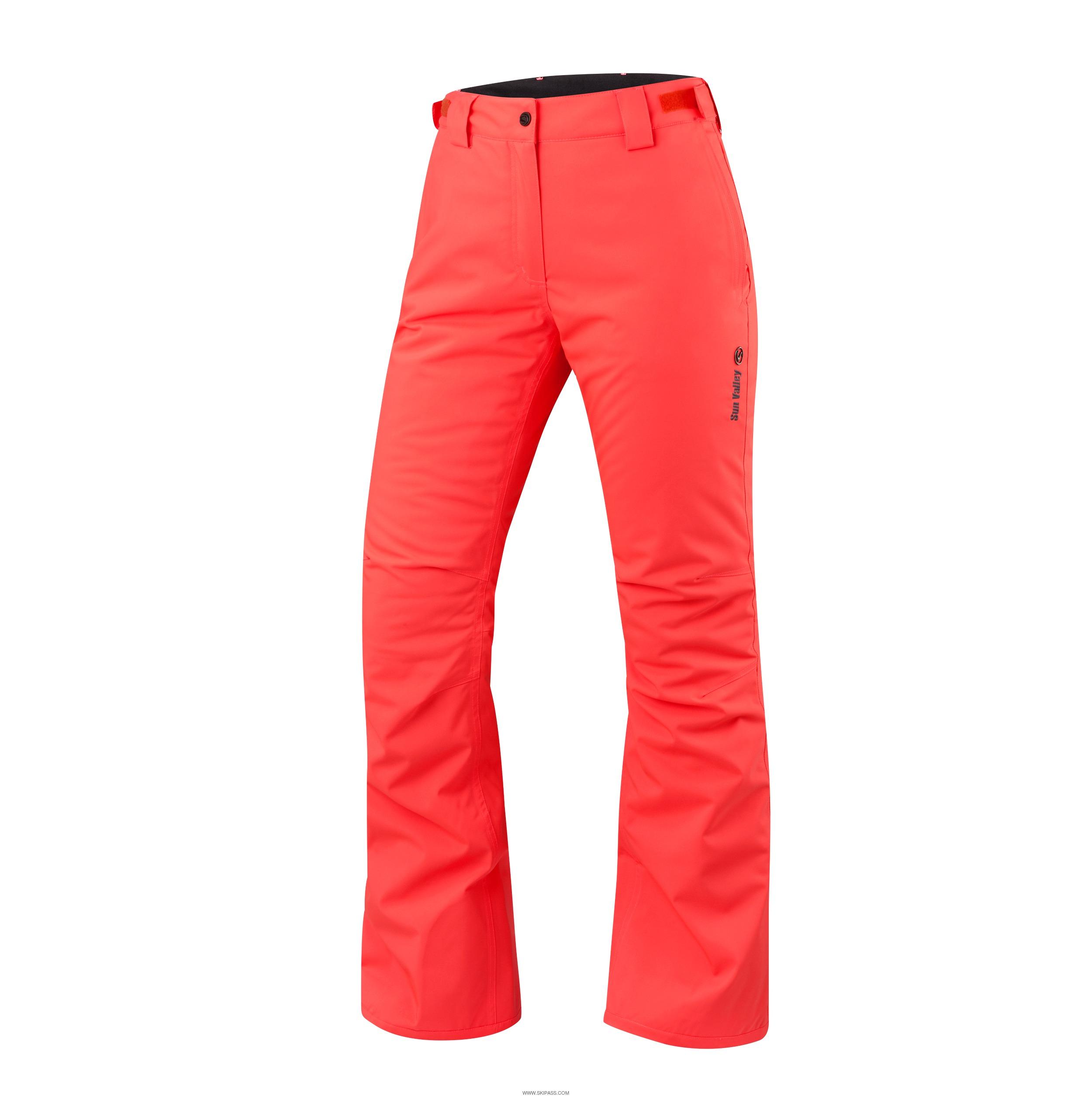 pantalon de ski orange fluo femme