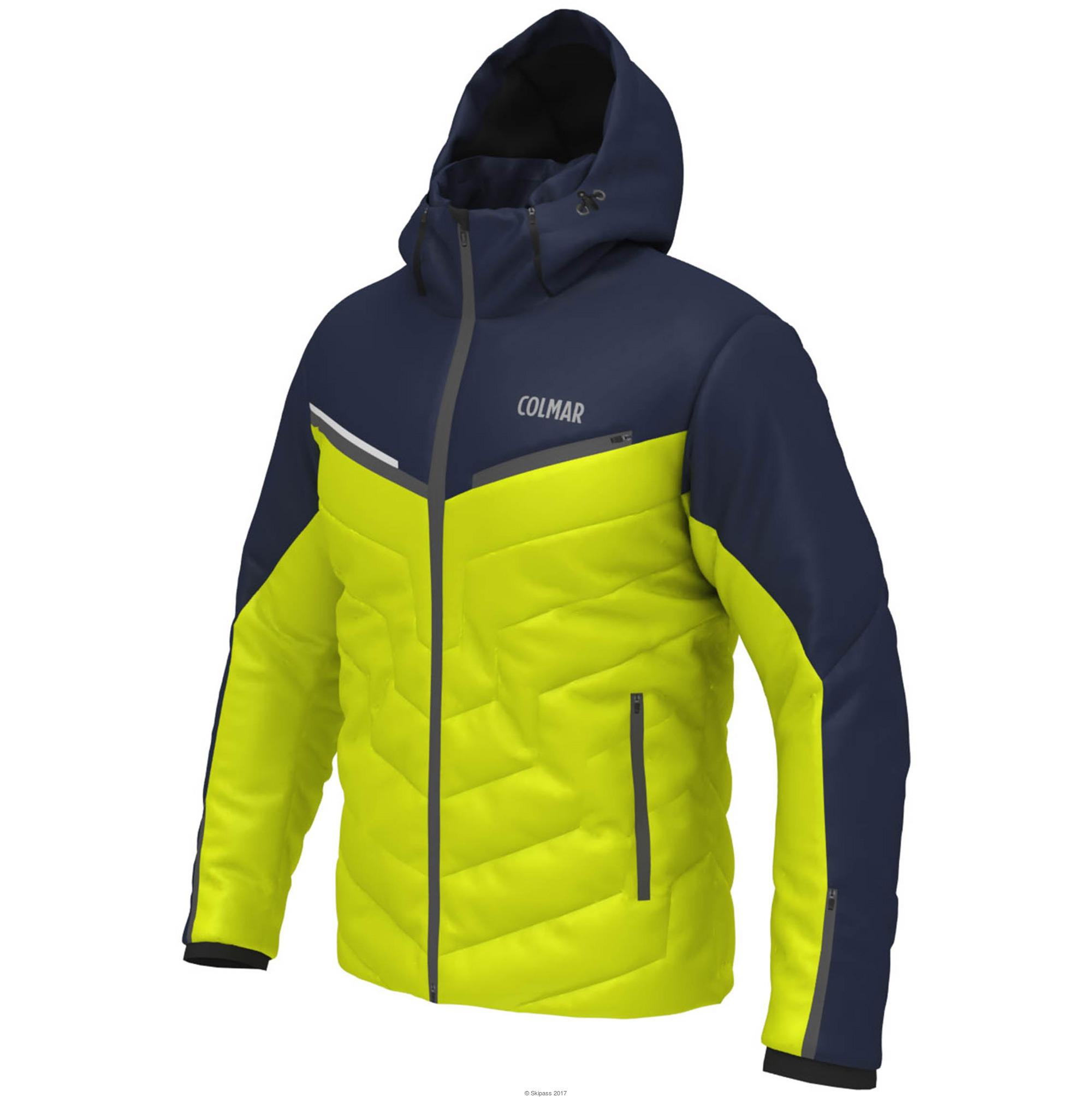 Veste ski femme jaune fluo
