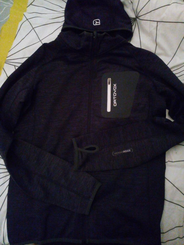 Ortovox fleece melange hoody M Black blend