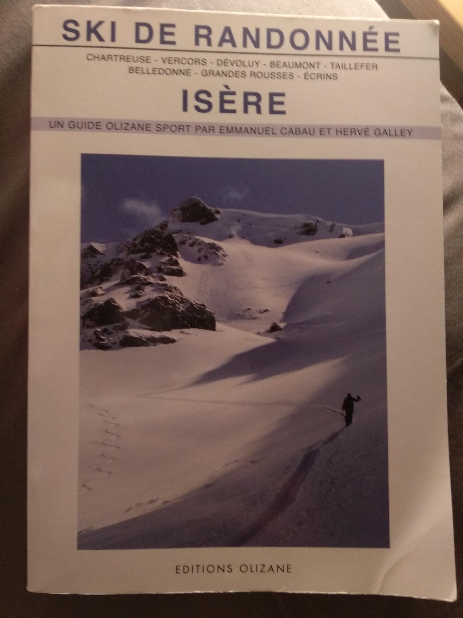 Editions Olizane Ski de randonnée - Isère
