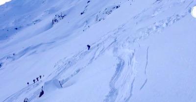 Vidéo Avalanche à Sainte Foy