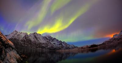 Lofoten : ski et aurores boréales