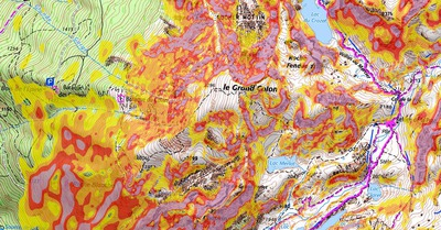 Avalanches, cartes et pentes à 30°
