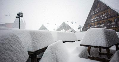 Il neige... Mais pas partout
