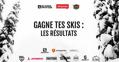 Gagne tes skis : Les gagnants