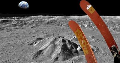 Candide va skier sur la Lune